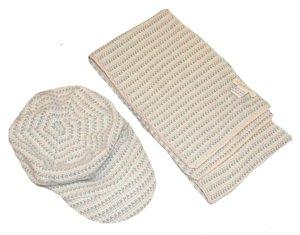 KANGRA Schal und Mütze Kappe 100% Kaschmir
