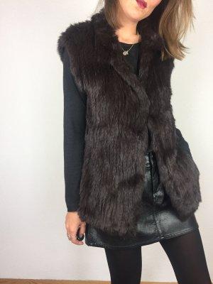 Pelt Coat dark brown-black brown