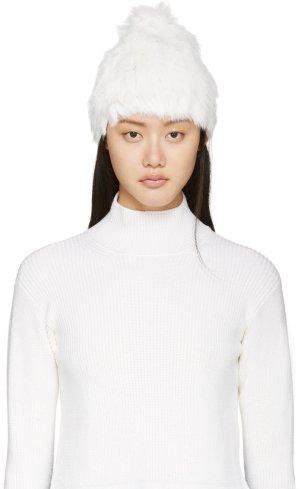 Cappello in pelliccia bianco Pelliccia