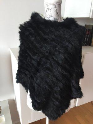 Kaninchenfell Fell Fur Poncho Fellponcho neu one size