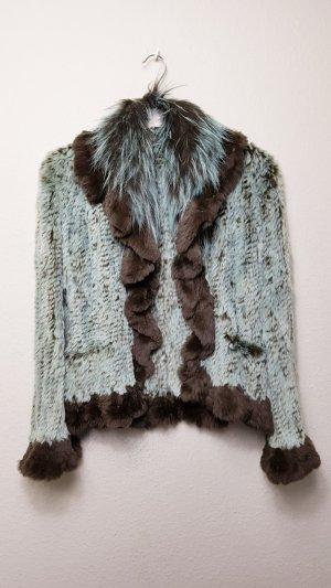 Kaninchenfell Jacke, Übergangsjacke, Fur Jacke