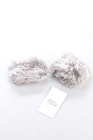 Kaninchenfell Pulswärmer Weiß Grau