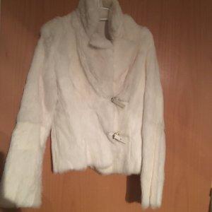 Chaqueta de piel blanco puro Pelaje