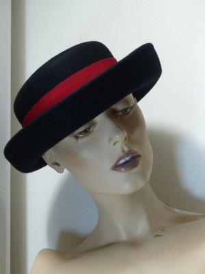 Peter Hahn Cappello nero-rosso scuro