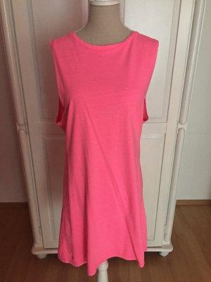 Kanllpinkes neonpinkes Tanktop-Kleid