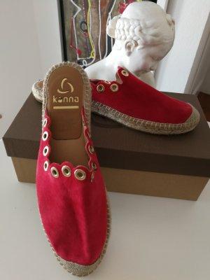 Kanna Espadrille Sandals red