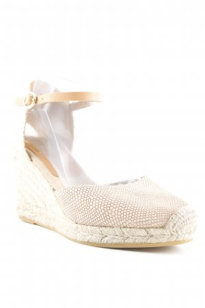 Kanna Keil-Pumps nude Animalmuster Reptil-Optik