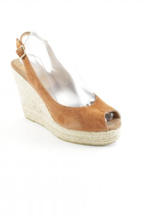 Kanna Platform High-Heeled Sandal cream-dark orange romantic style