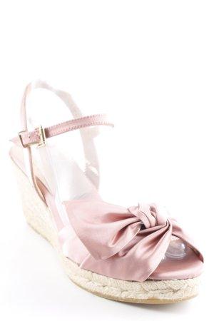 Kanna Wedge Sandals pink-beige material mix look