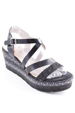 Kanna Wedges Sandaletten schwarz Casual-Look