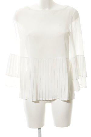 Kaos Langarm-Bluse weiß Elegant
