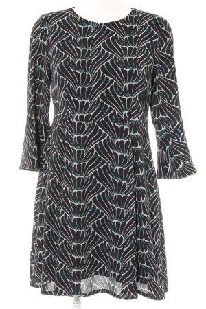 Kaos Langarmkleid abstraktes Muster Street-Fashion-Look