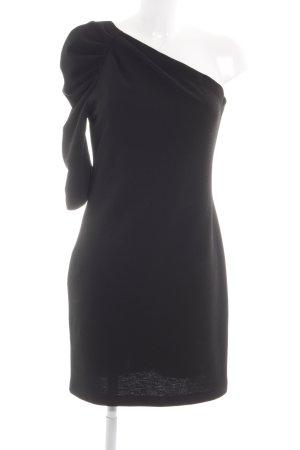 Kaos Vestido de un hombro negro elegante
