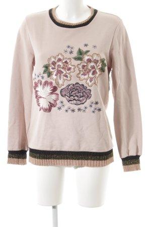 Kaos Sweatshirt florales Muster Casual-Look