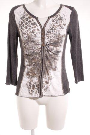 Kapalua Langarm-Bluse abstraktes Muster Casual-Look