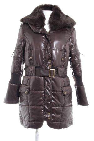 Kapalua Veste d'hiver brun foncé style mouillé