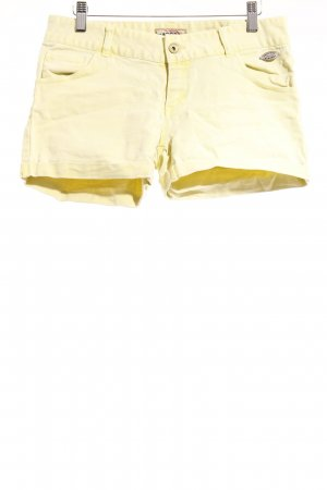 Kaporal Hot Pants blassgelb-neongelb Washed-Optik