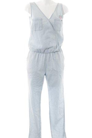 Kaporal Jumpsuit blassblau Blumenmuster Street-Fashion-Look