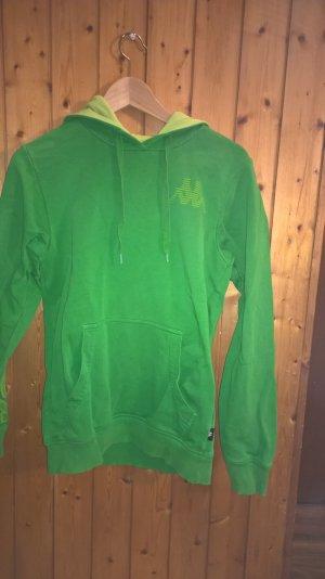 Kappa Maglione con cappuccio verde neon Cotone