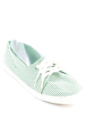 Kappa Schnürsneaker grün-weiß Streifenmuster Casual-Look