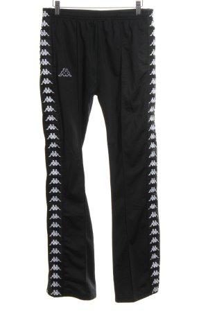 Kappa Sportbroek zwart prints met een thema casual uitstraling