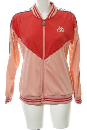 Kappa Sports Jacket apricot-salmon striped pattern casual look
