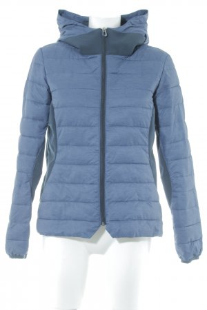 Kappa Quilted Jacket steel blue flecked athletic style