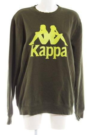 Kappa Sweatshirt khaki Motivdruck Casual-Look