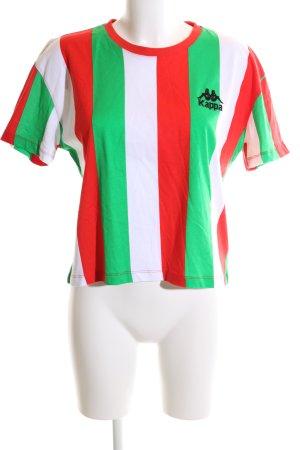 Kappa T-Shirt Streifenmuster Casual-Look