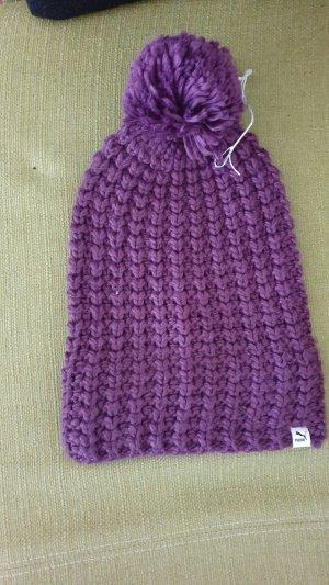 Puma Knitted Hat dark violet