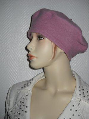 Kappe Flatcap Schurwolle Franzosen Basken Mütze Beret Hut flieder S M 36 38 40
