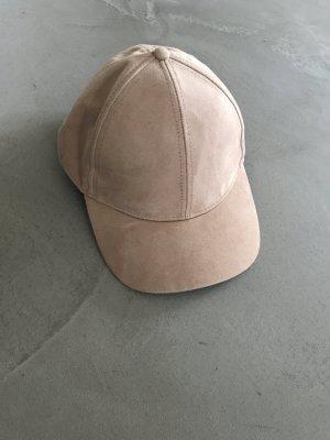 Kappe im Velourlederlook // Helles beige // H&M