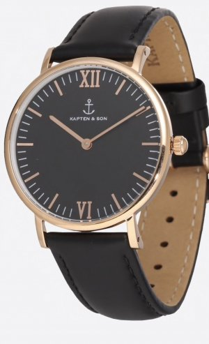 Kapten & Son Analog Watch black-gold-colored