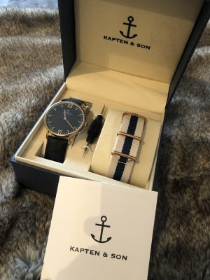 Kapten & Son Watch With Leather Strap multicolored leather
