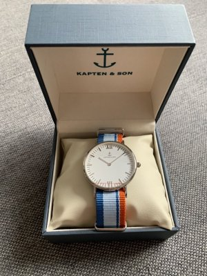 Kapten & Son Watch With Leather Strap multicolored