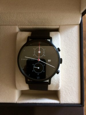 Kapten & Son Horloge zwart