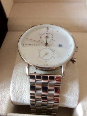Kapten & Son Horloge met metalen riempje wit