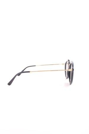Kapten & Son ovale Sonnenbrille schwarz-goldfarben Casual-Look