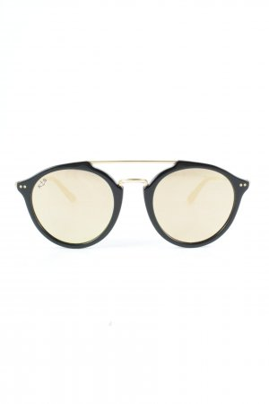 Kapten & Son Retro Brille schwarz-goldfarben Street-Fashion-Look