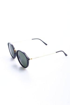 Kapten & Son runde Sonnenbrille schwarz Retro-Look