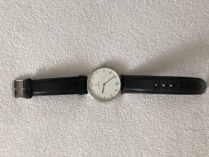Kapten & Son Watch With Leather Strap white-black