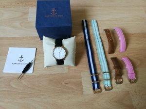 Kapten & Son Uhr Campina rosegold + 5 Armbänder + Zubehör
