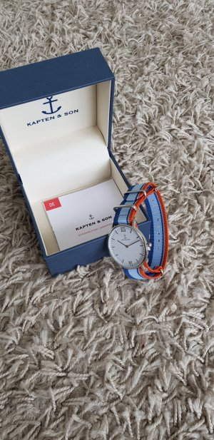 Kapten & Son Analog Watch silver-colored