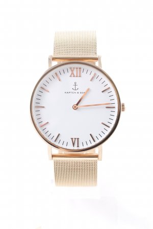Kapten & Son Horloge met metalen riempje goud elegant