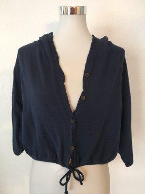 Made in Italy Shirtjack donkerblauw Katoen