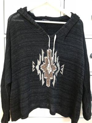 Brandy & Melville Capuchon sweater veelkleurig Gemengd weefsel