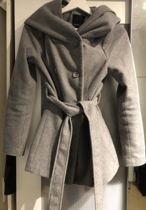 Amisu Cappotto con cappuccio grigio