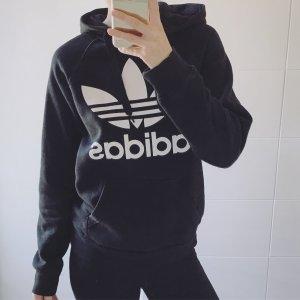 Adidas Felpa con cappuccio nero-bianco