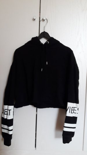 H&M Divided Hooded Sweatshirt black-white