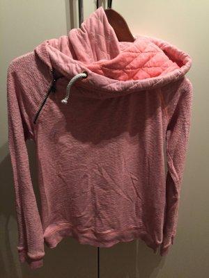 Maison Scotch Maglione con cappuccio rosa chiaro Cotone
